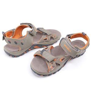 Merrell Kids Waterproof Sandals Size 4 Brown Tan